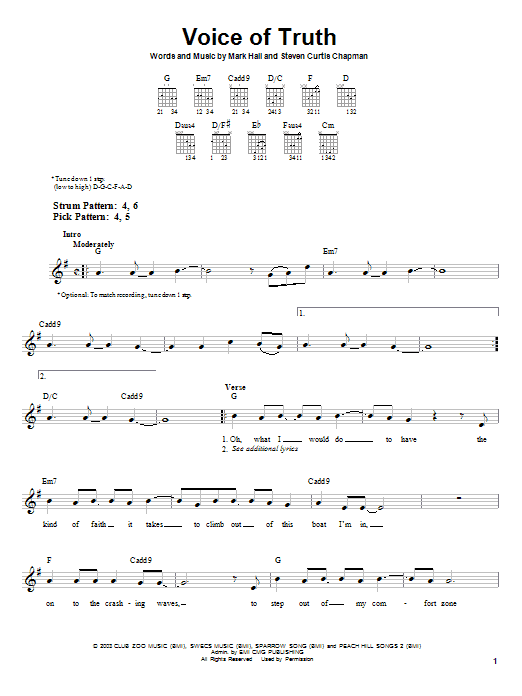 Voice of truth guitar chords