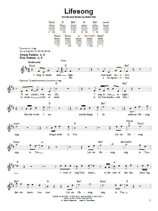 Lifesong (Easy Guitar)