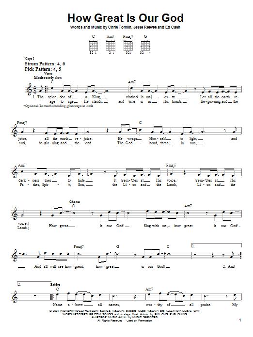 HOW GREAT IS OUR GOD LYRICS - CHRIS TOMLIN