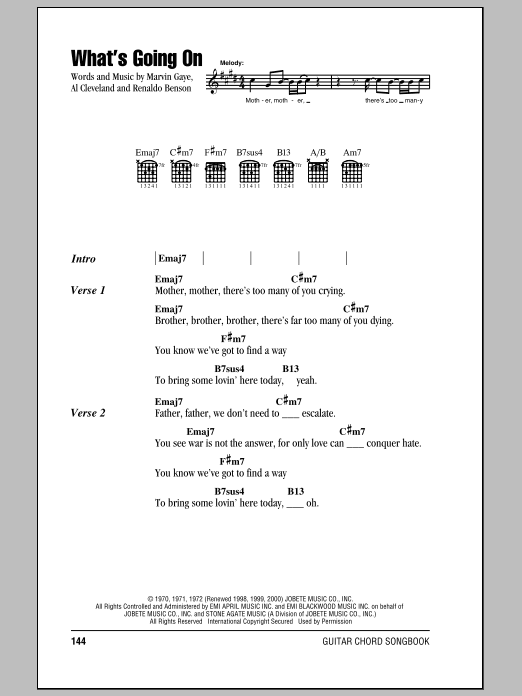 What's Going On Sheet Music