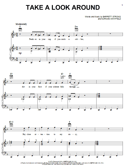 Take A Look Around Sheet Music