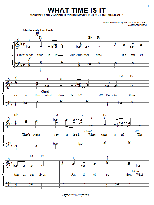 What Time Is It Sheet Music