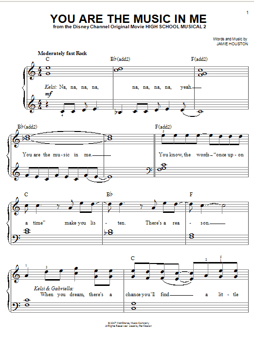 you are the music in me sheet music - Heart.impulsar.co