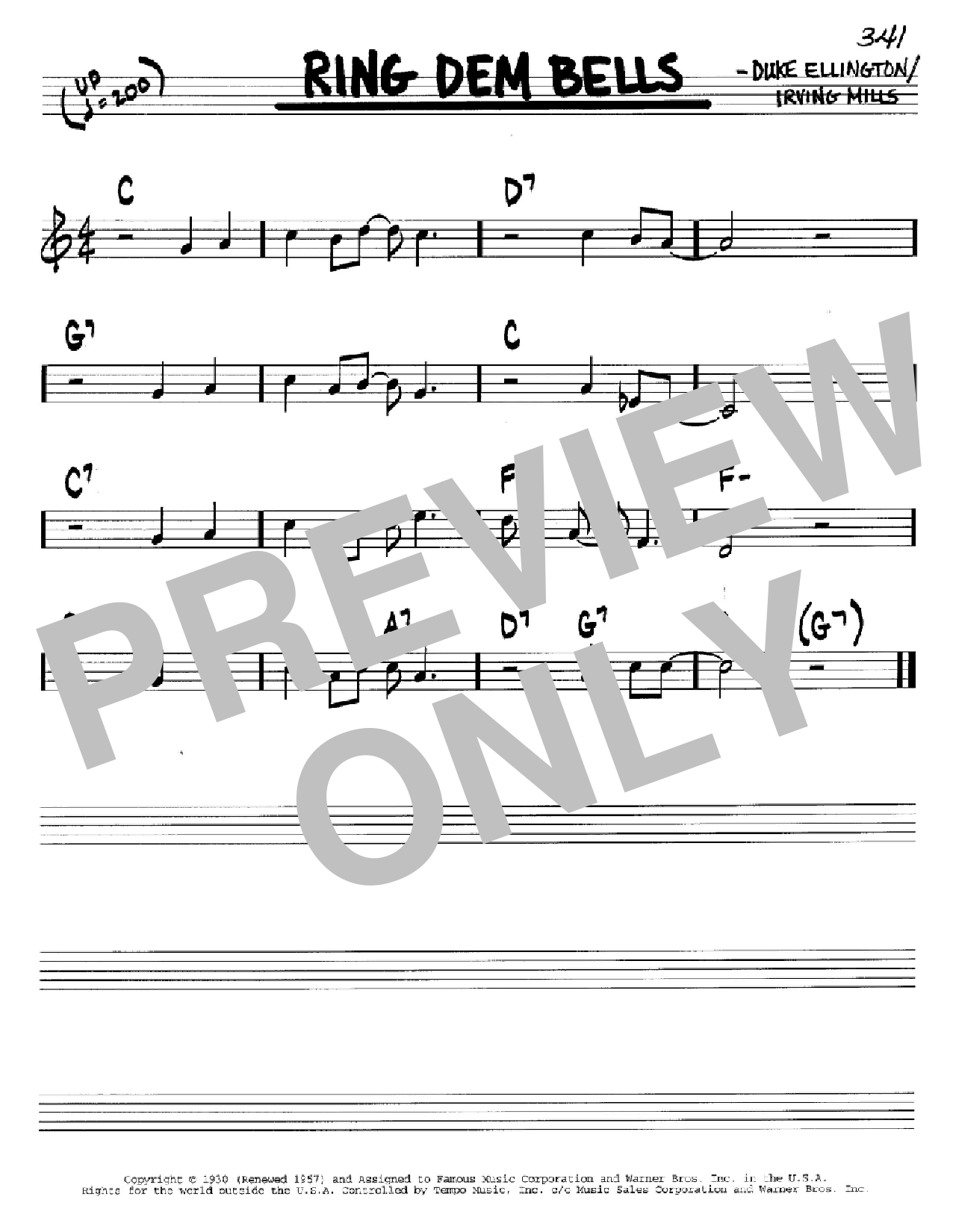 Ring Dem Bells (Real Book – Melody & Chords – C Instruments)