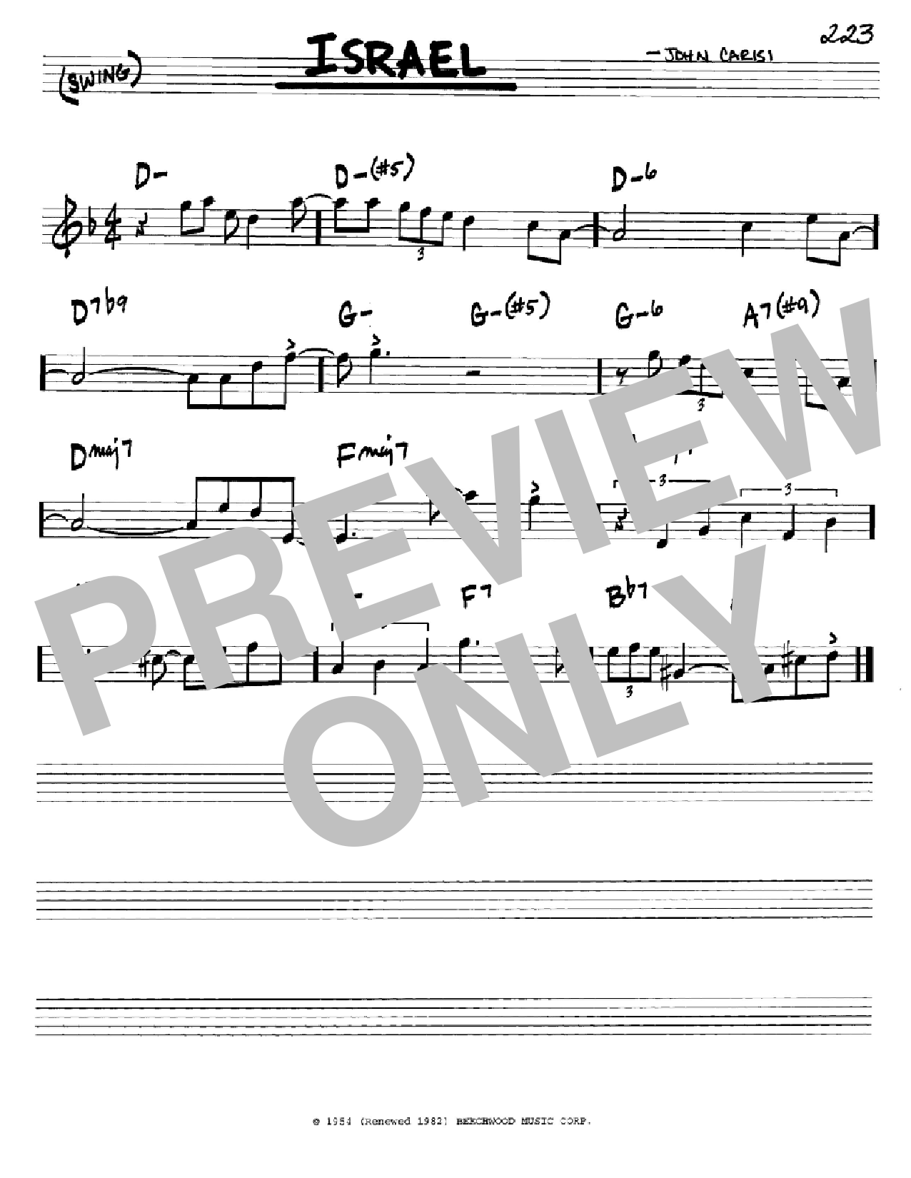 Israel Sheet Music