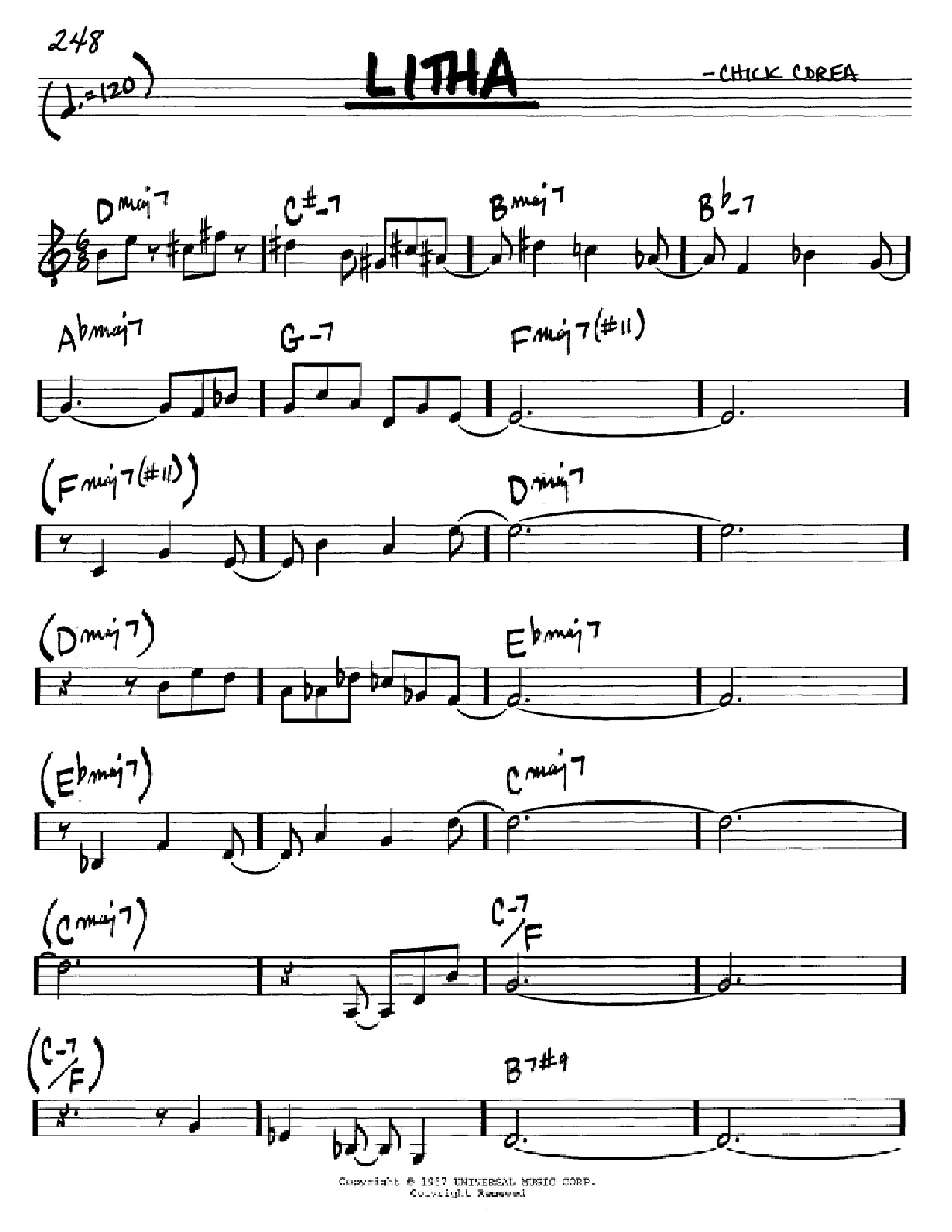 Litha (Real Book – Melody & Chords – C Instruments)