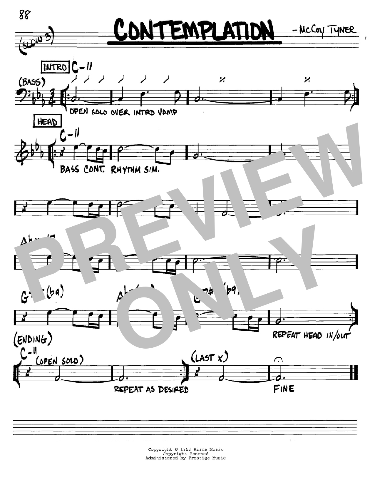 Contemplation Sheet Music