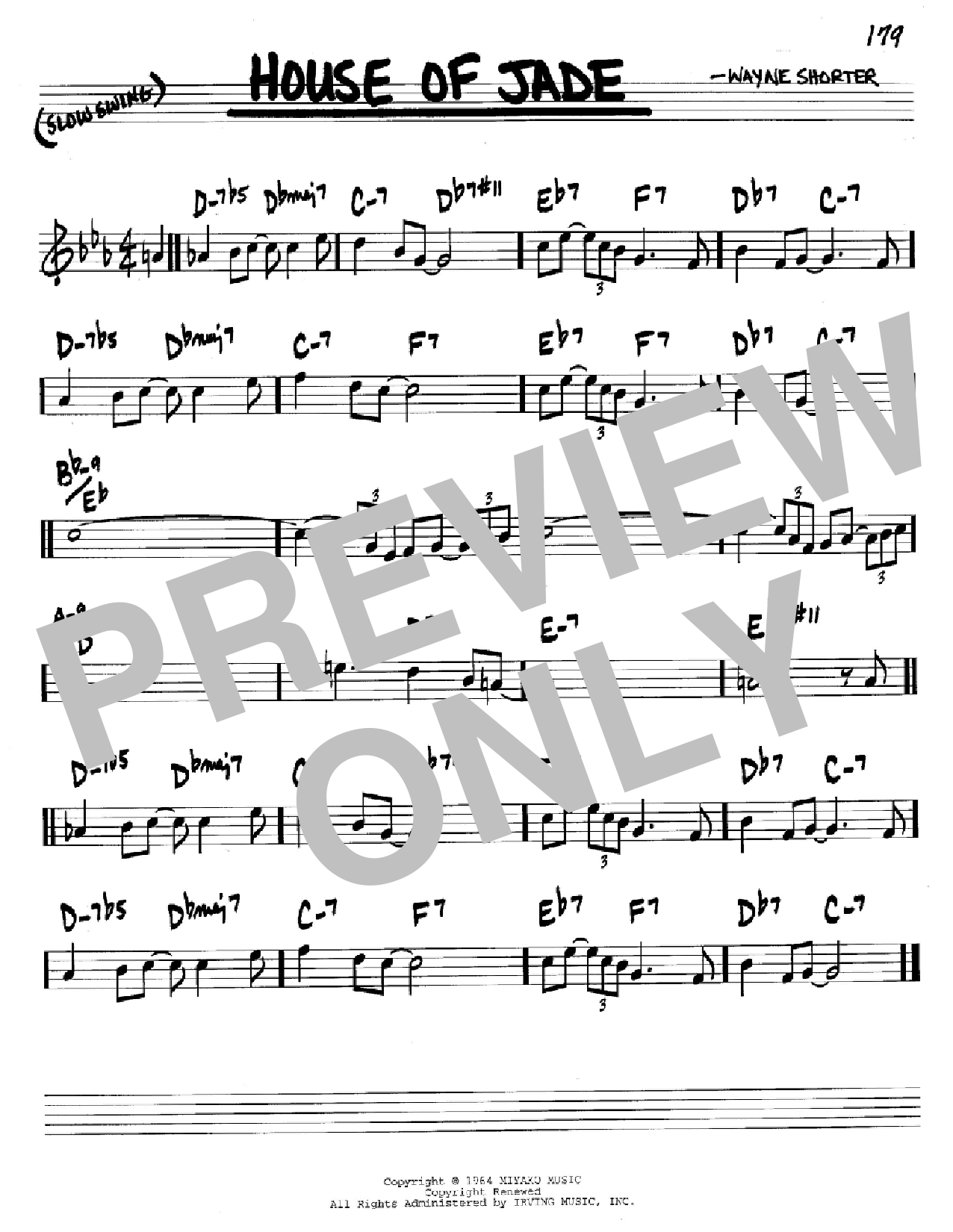 House Of Jade Sheet Music