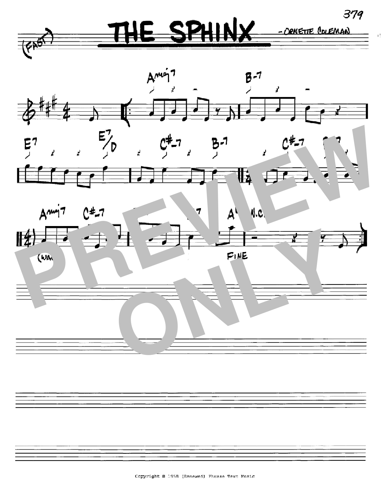 The Sphinx Sheet Music