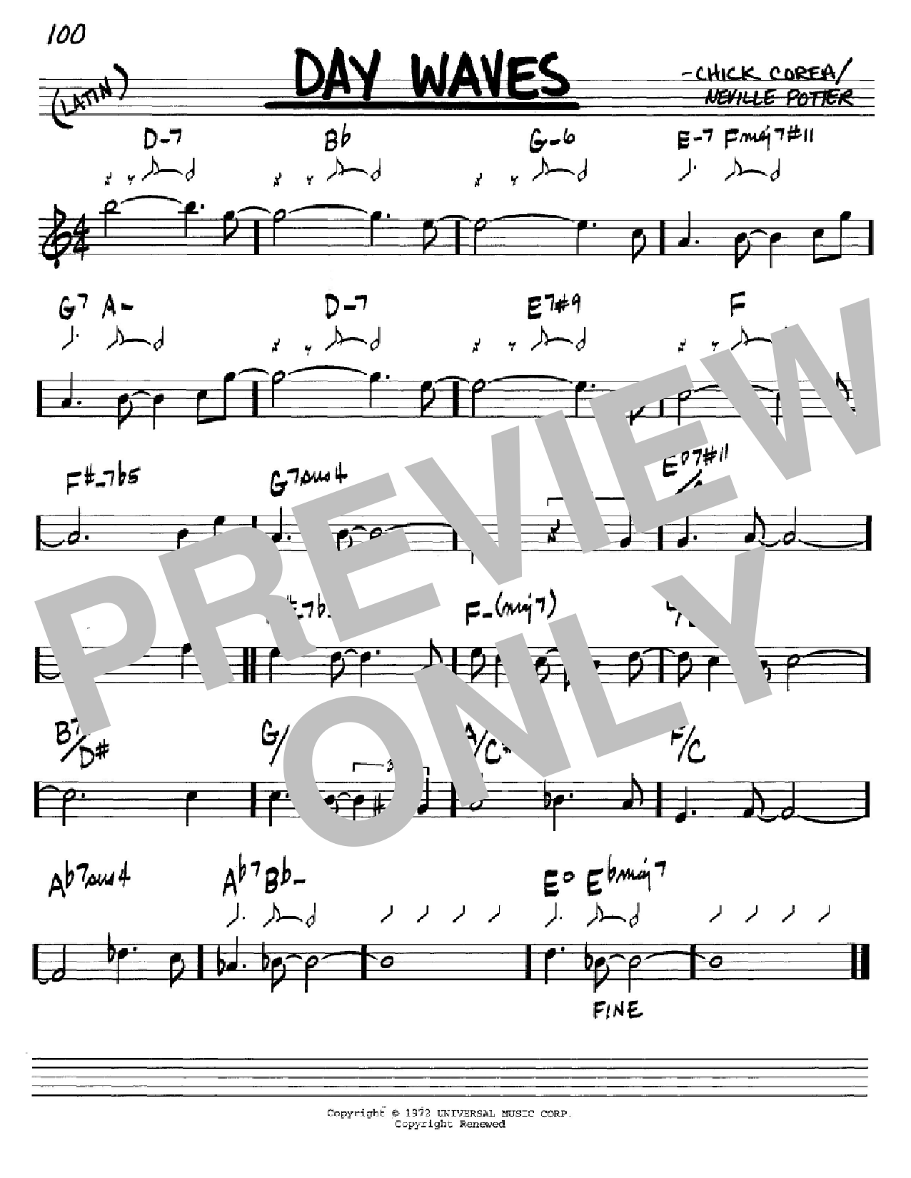 Day Waves Sheet Music