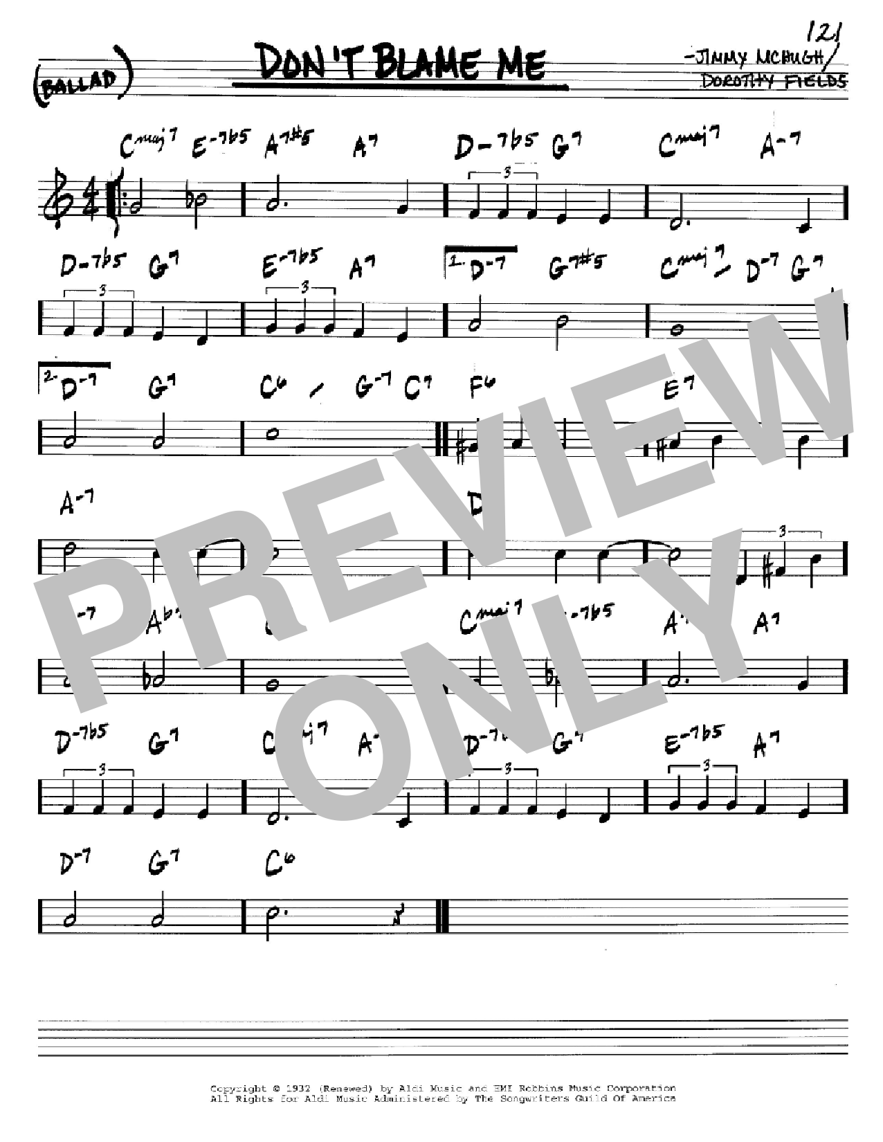 Don't Blame Me Sheet Music