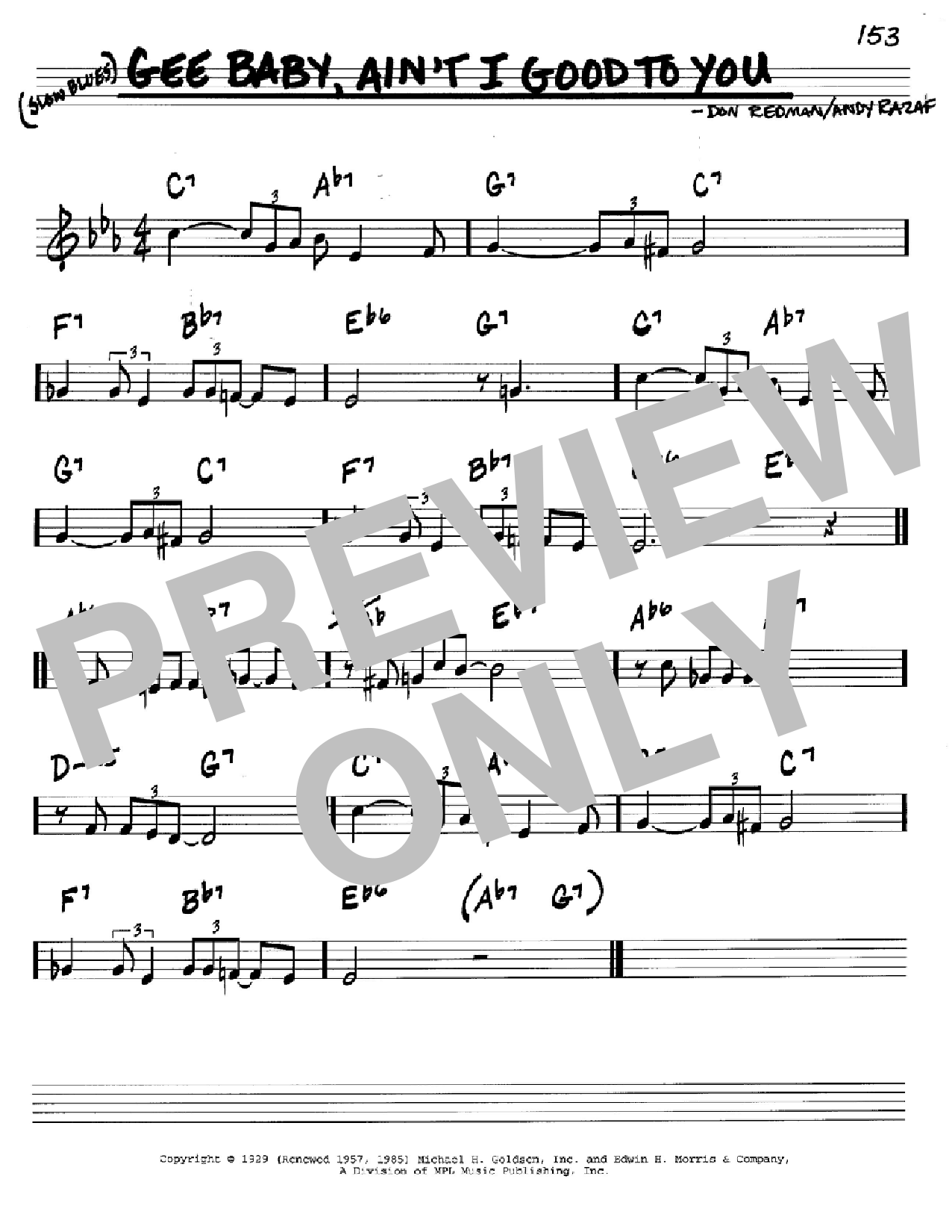 Gee Baby, Ain't I Good To You Sheet Music