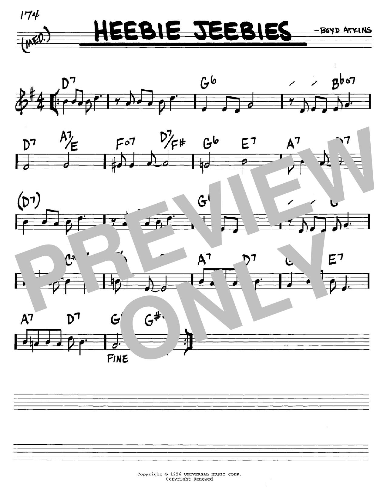 Heebie Jeebies Sheet Music