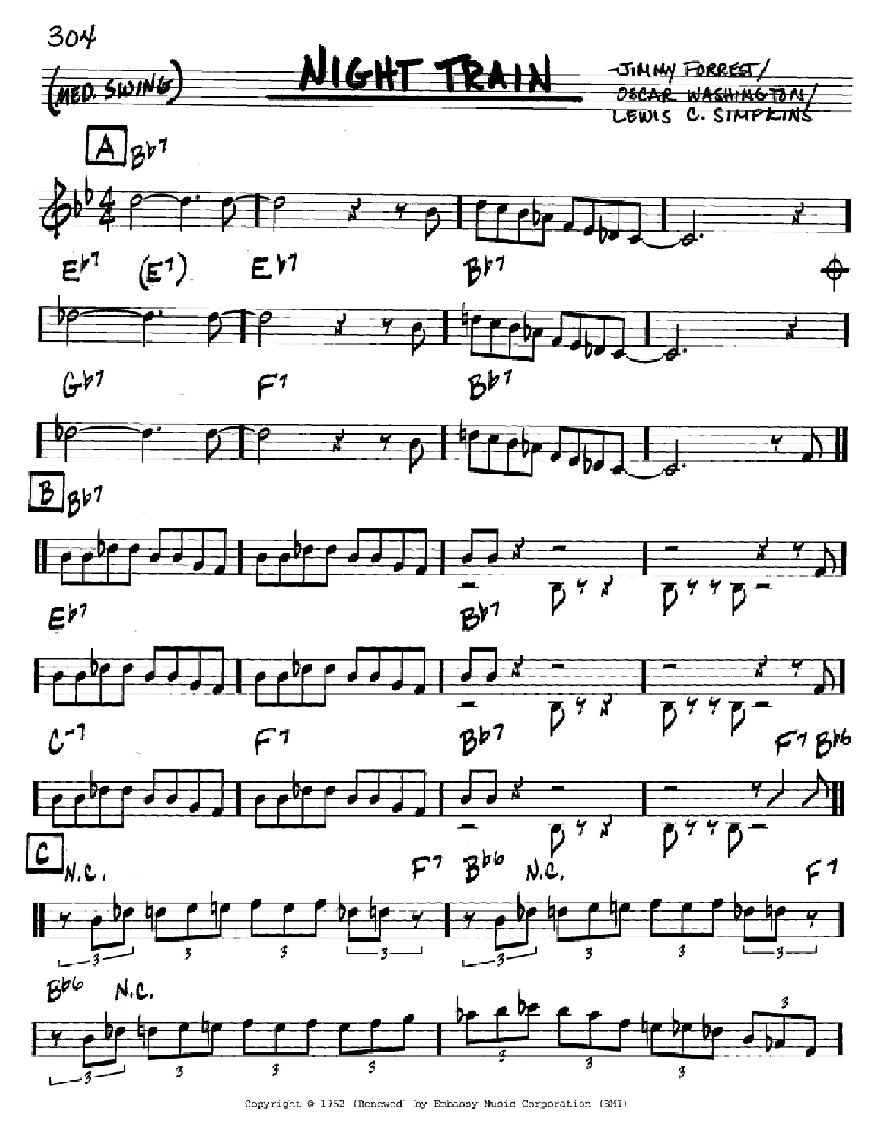 Night Train Sheet Music