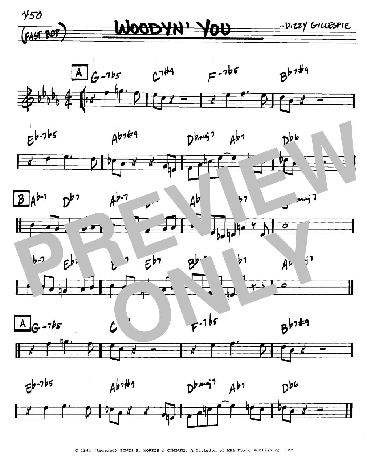 Woodyn' You (Real Book – Melody & Chords – C Instruments)