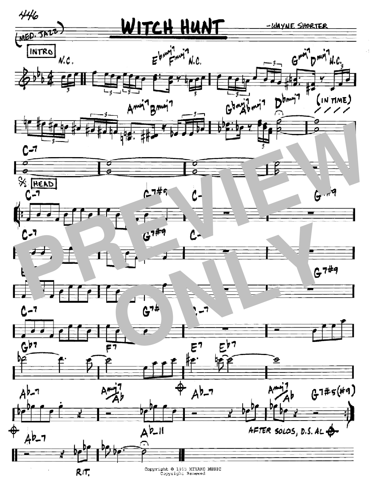 Witch Hunt Sheet Music