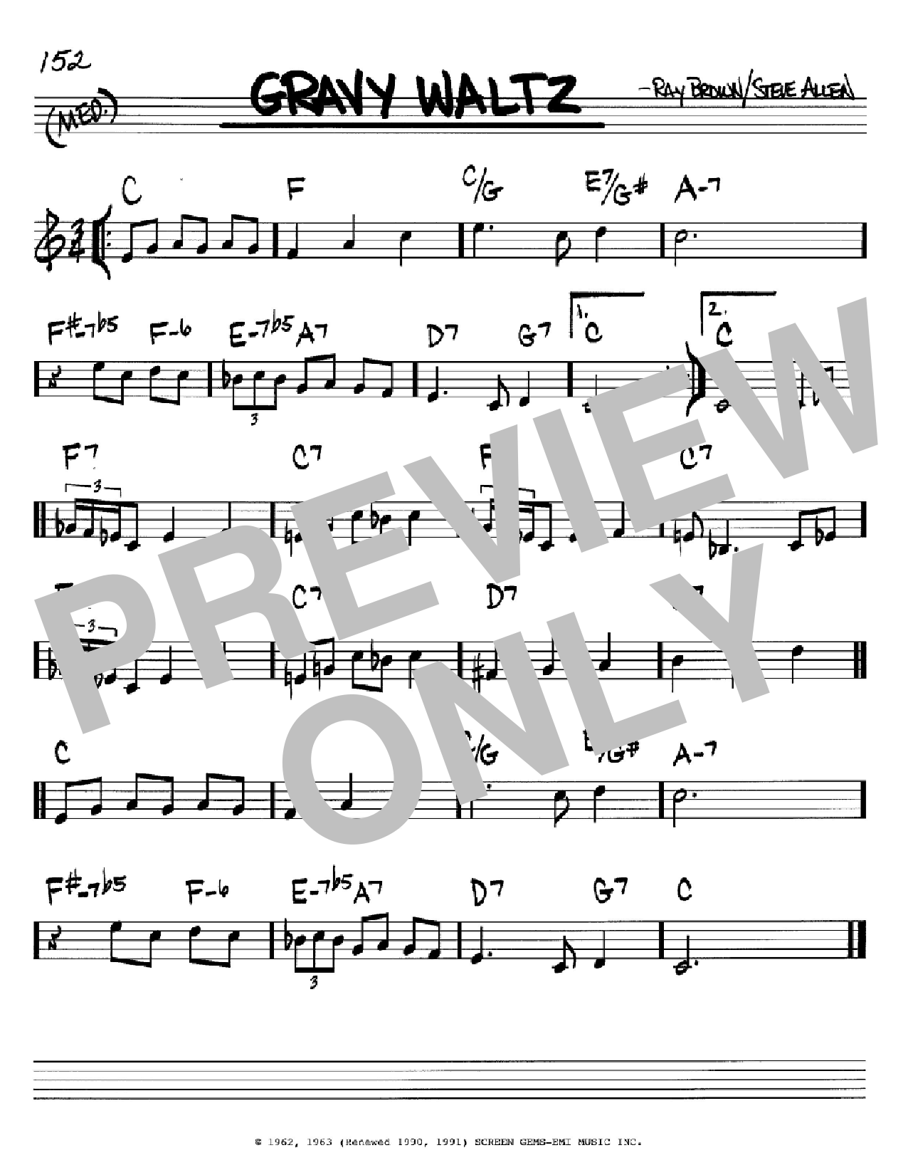 Gravy Waltz Sheet Music
