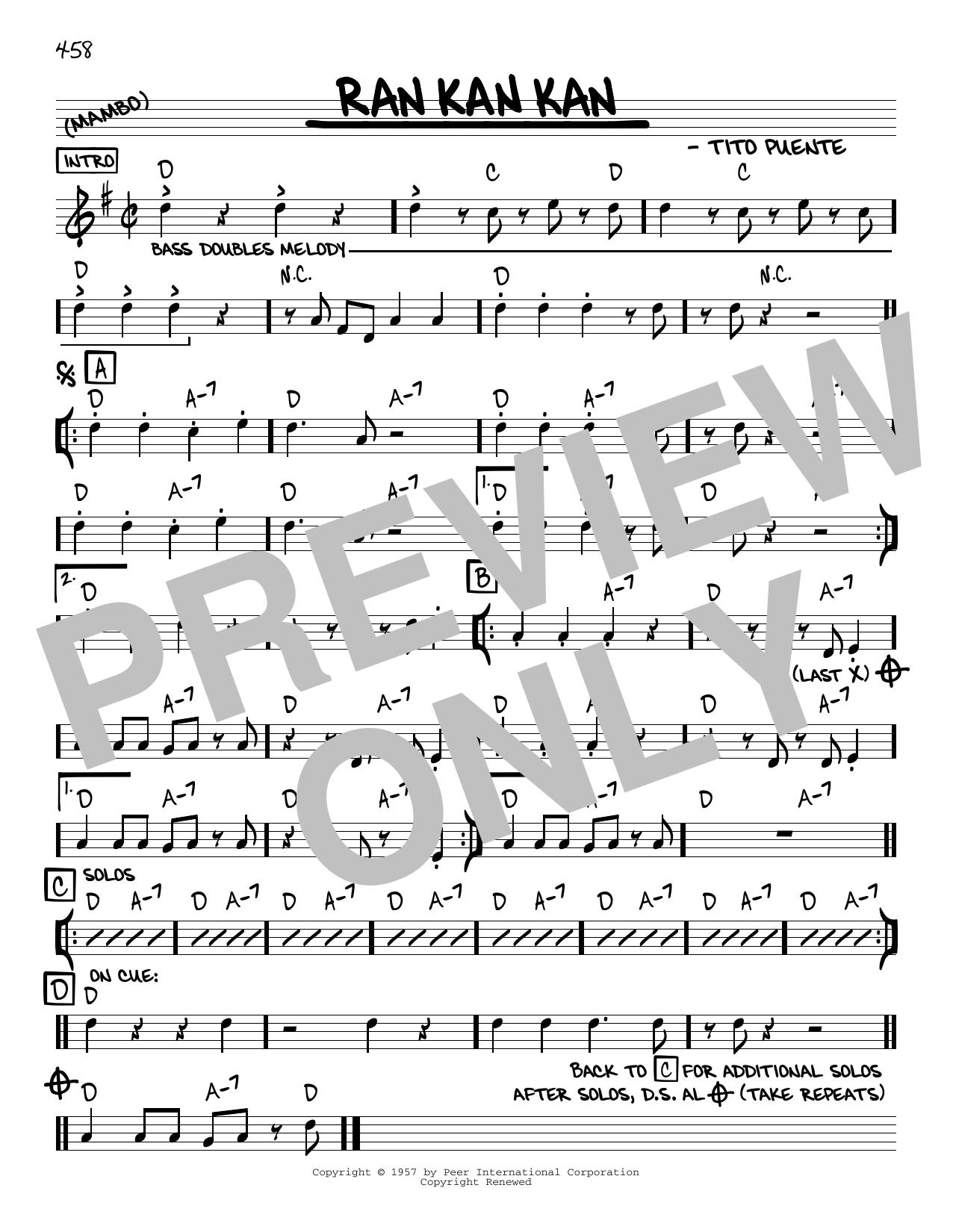 Ran Kan Kan (Real Book – Melody & Chords – C Instruments)