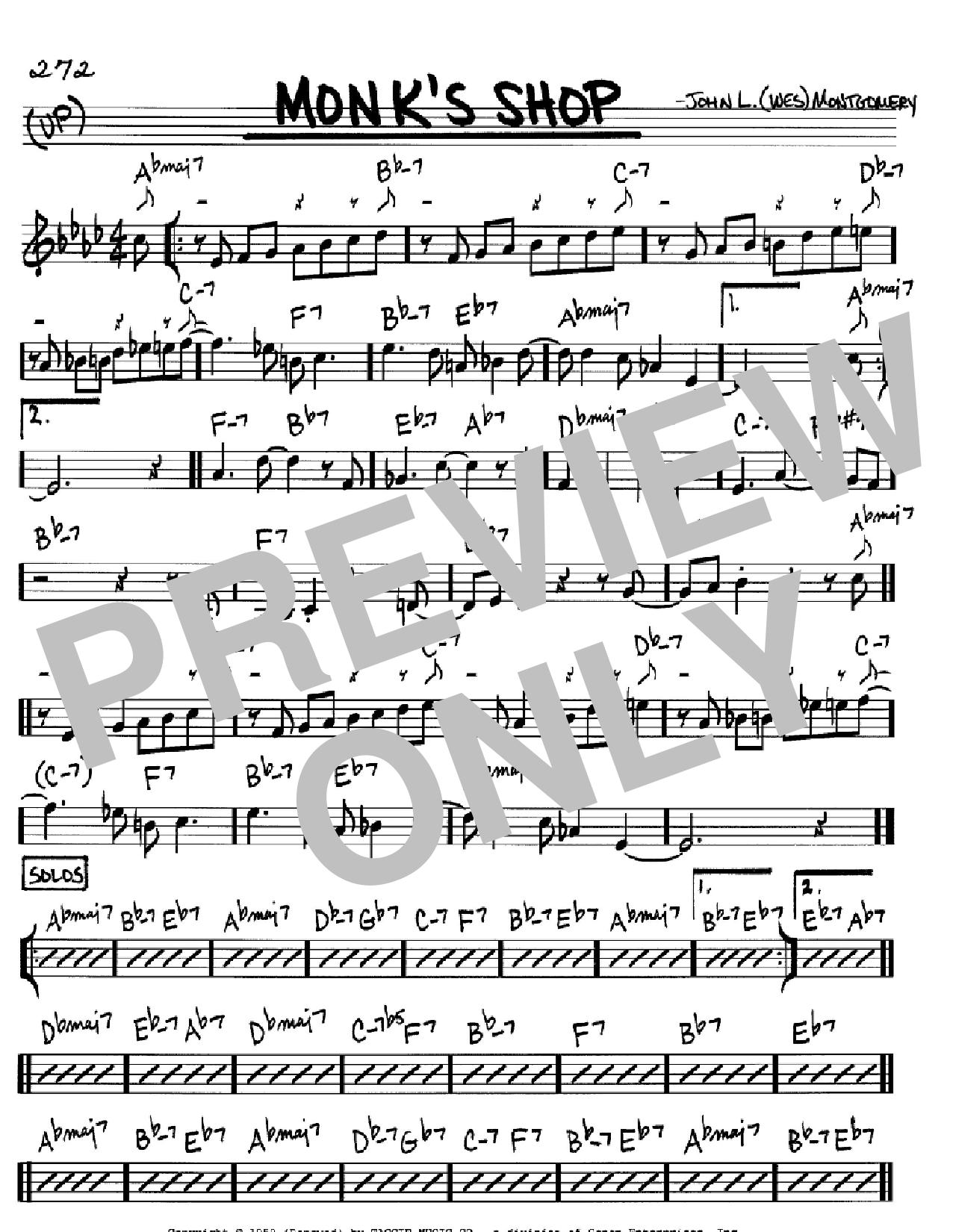 Monk's Shop Sheet Music