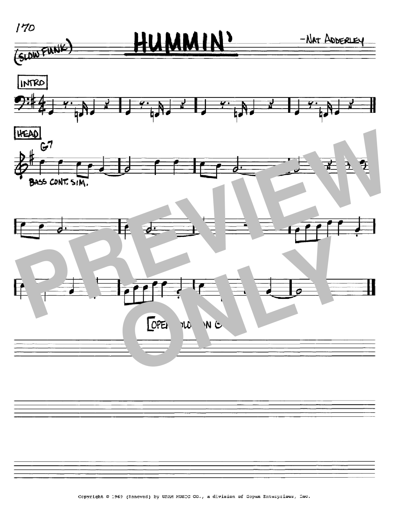 Hummin' Sheet Music