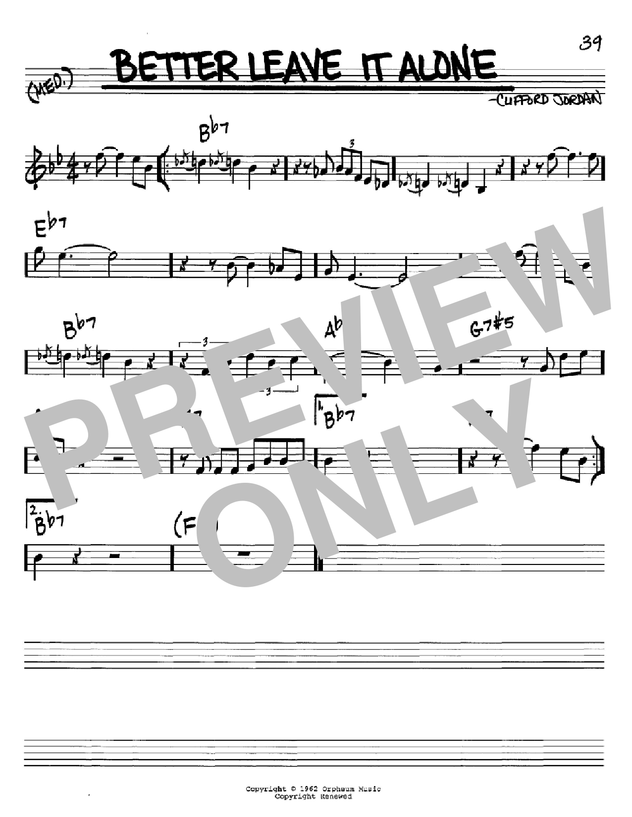 Better Leave It Alone Sheet Music
