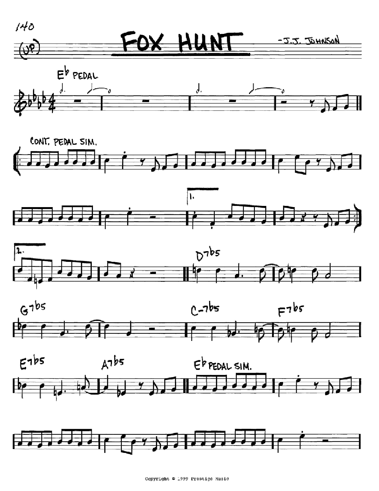 Fox Hunt Sheet Music