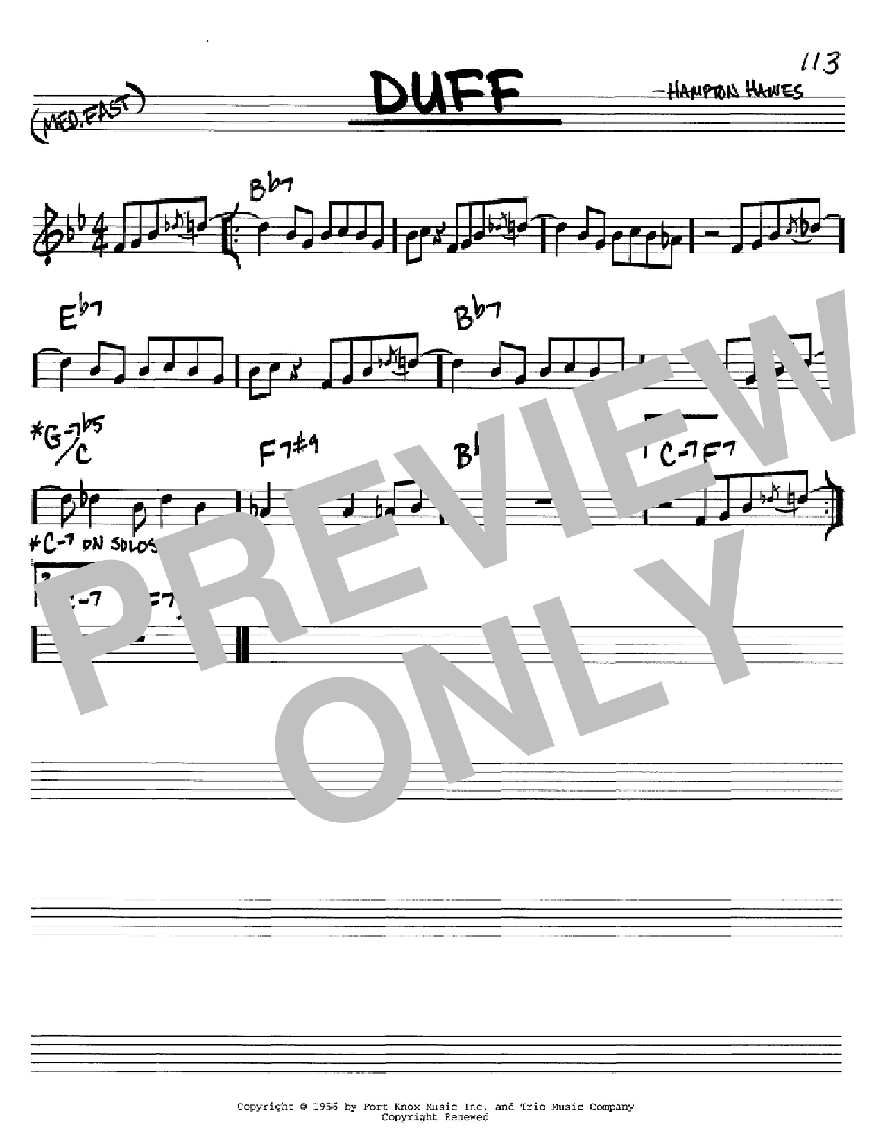 Duff Sheet Music