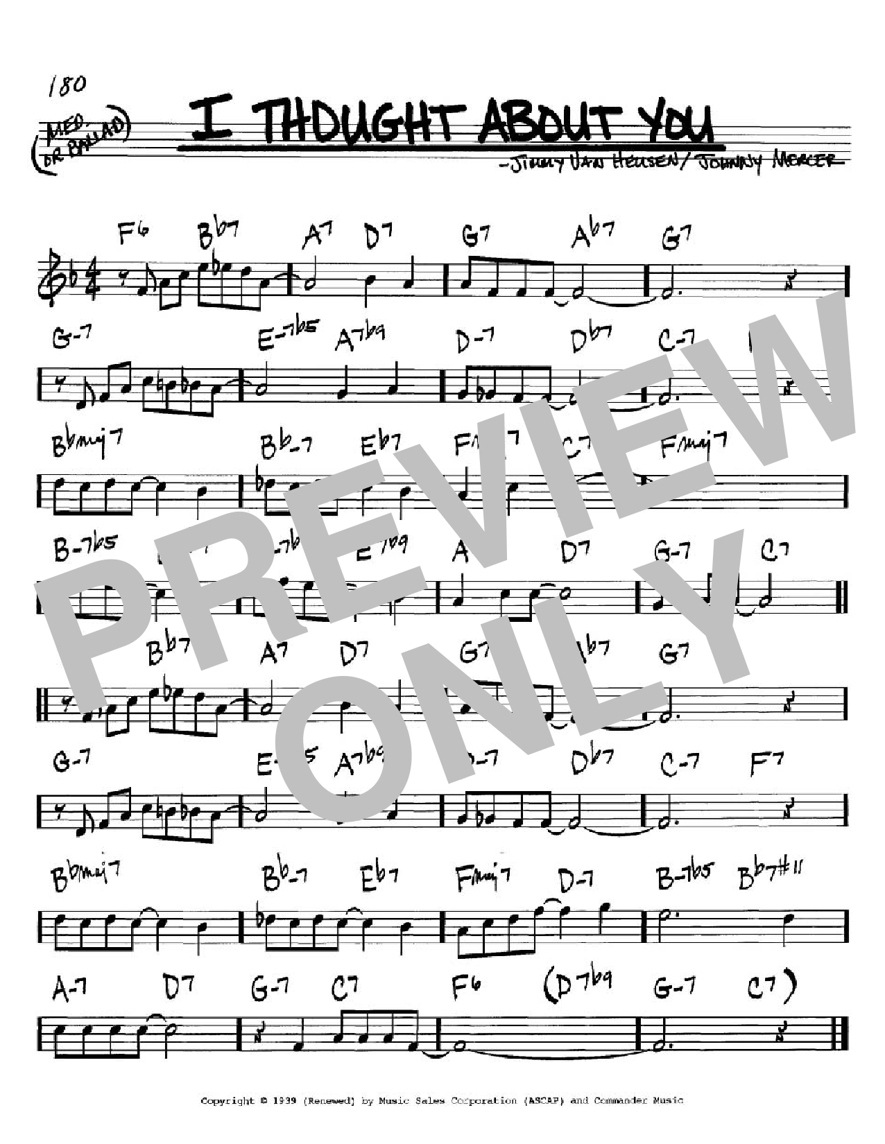 I Thought About You (Real Book – Melody & Chords – C Instruments)