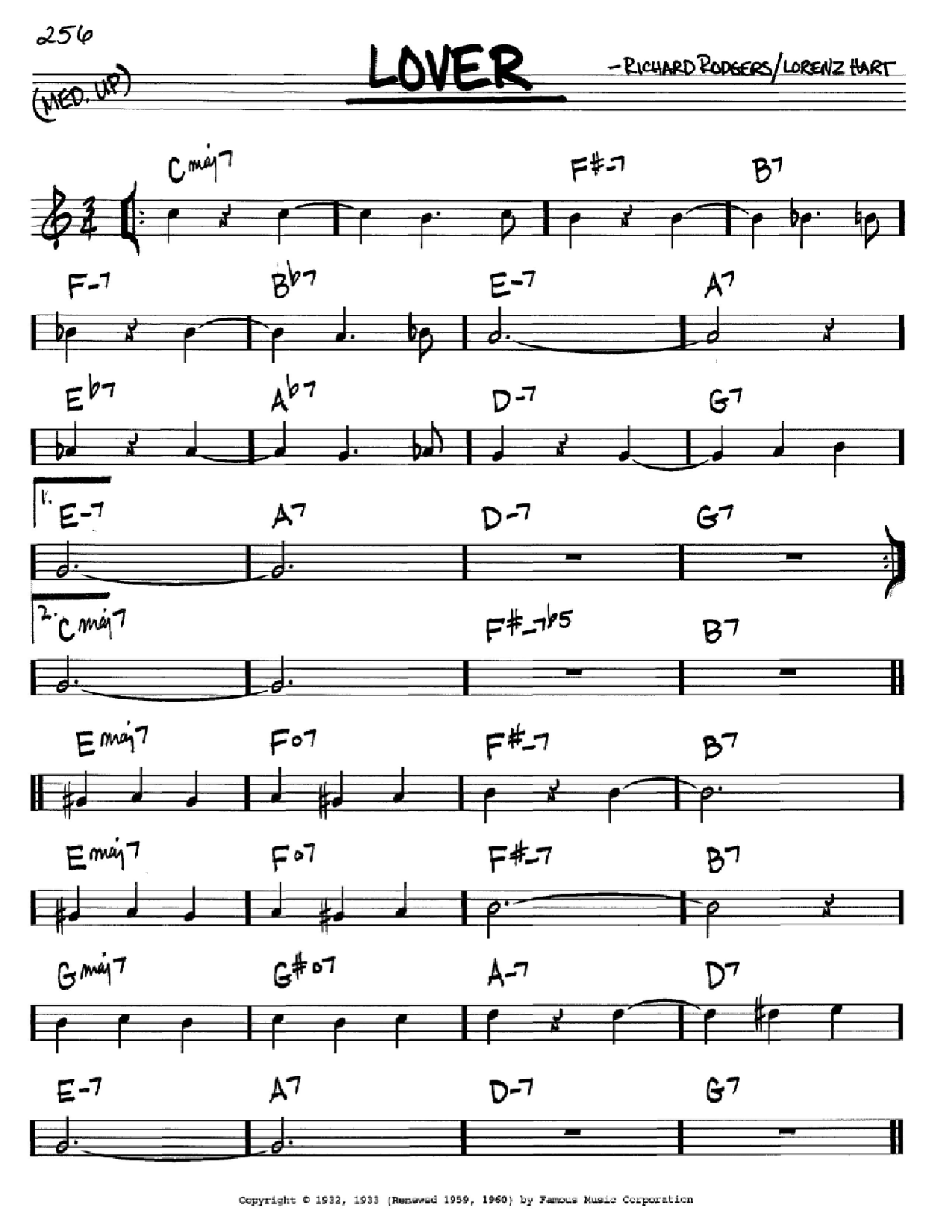Lover Sheet Music