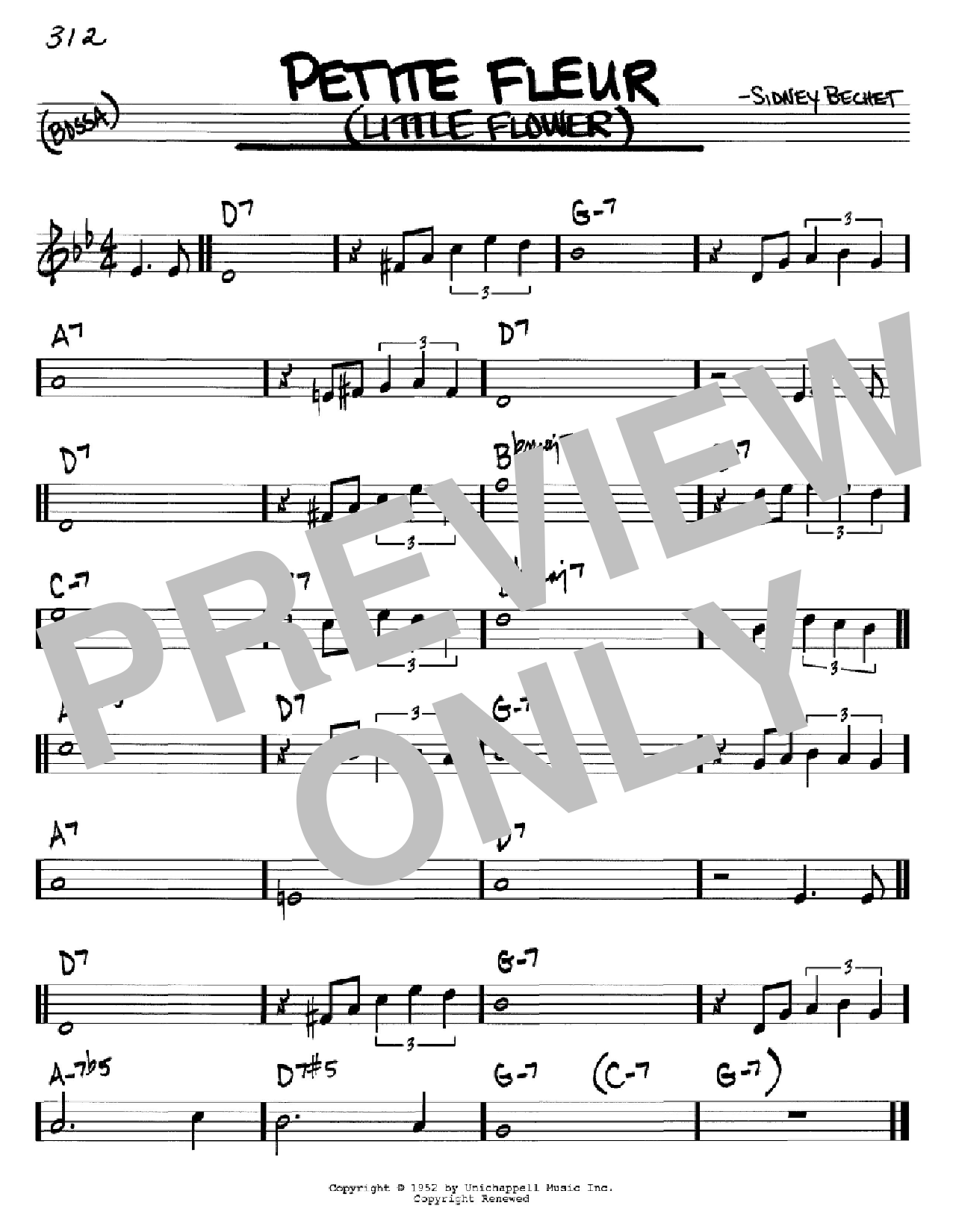 Petite Fleur (Little Flower) (Real Book – Melody & Chords – C Instruments)