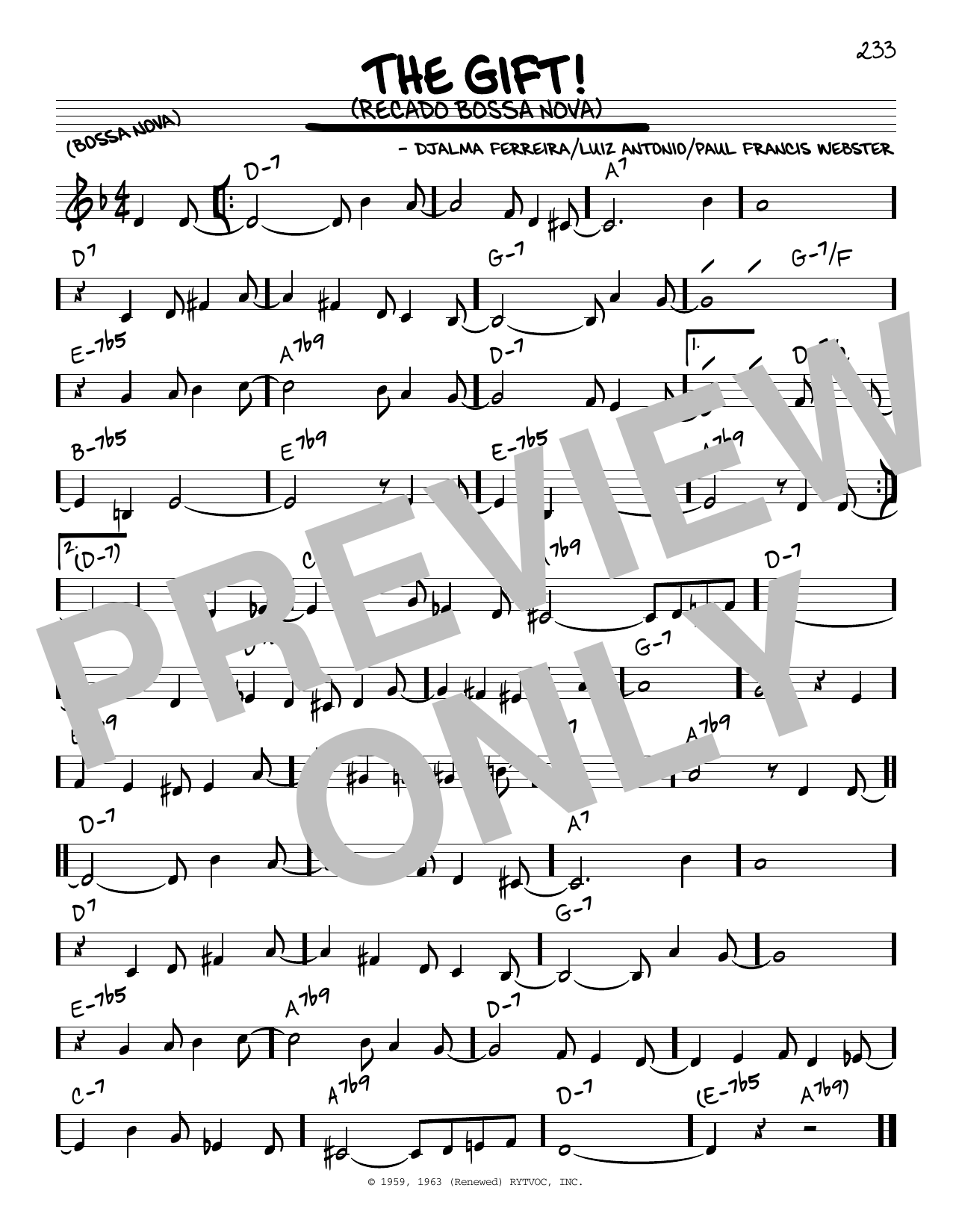 The Gift Recado Bossa Nova Sheet Music Direct