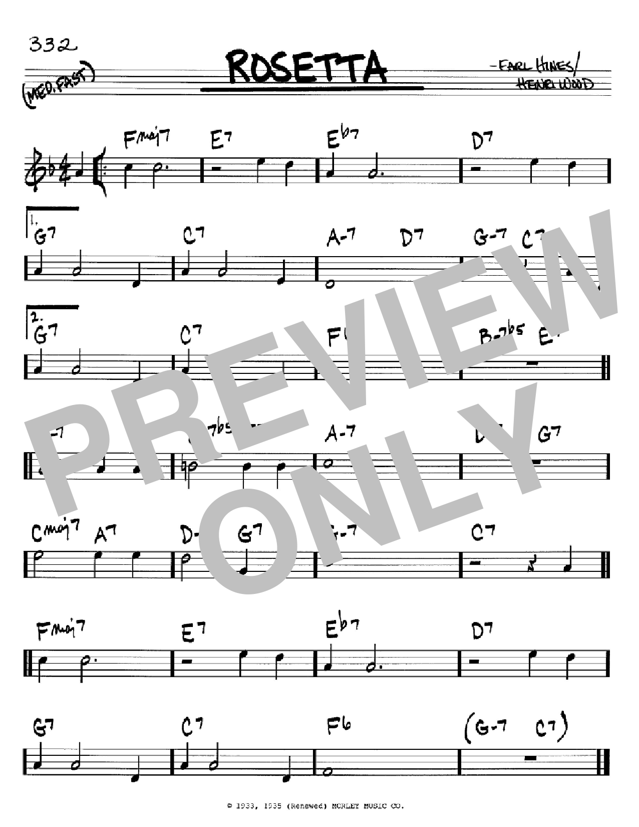 Rosetta (Real Book – Melody & Chords – C Instruments)