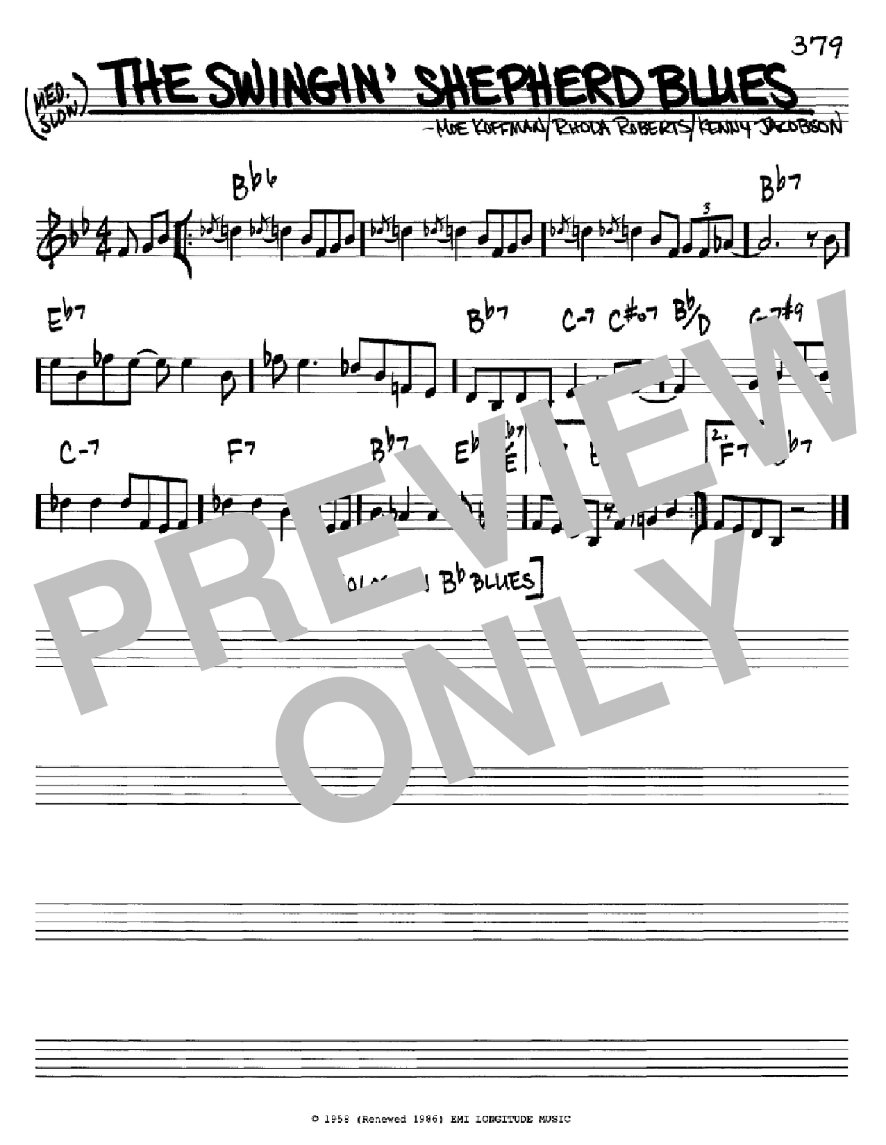 The Swingin' Shepherd Blues Sheet Music