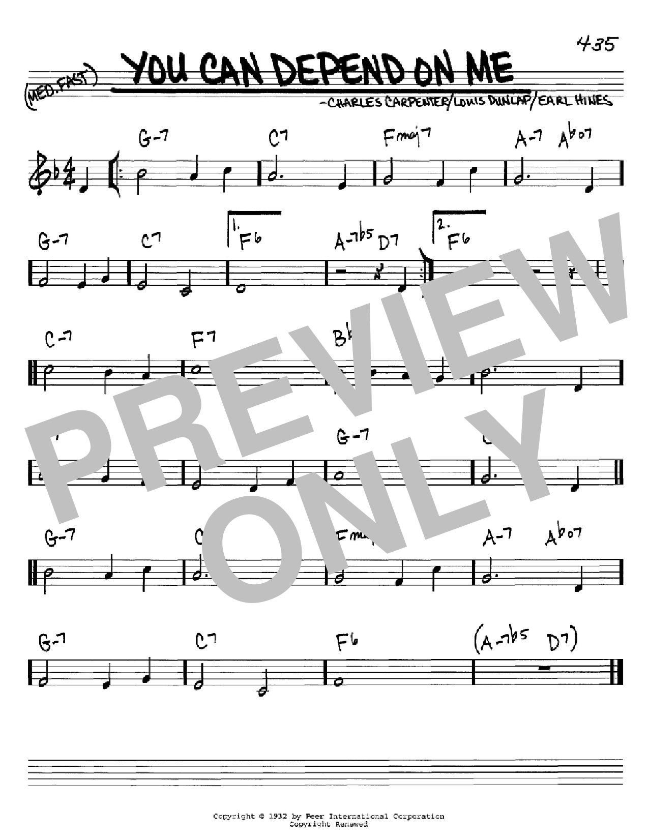 You Can Depend On Me Sheet Music