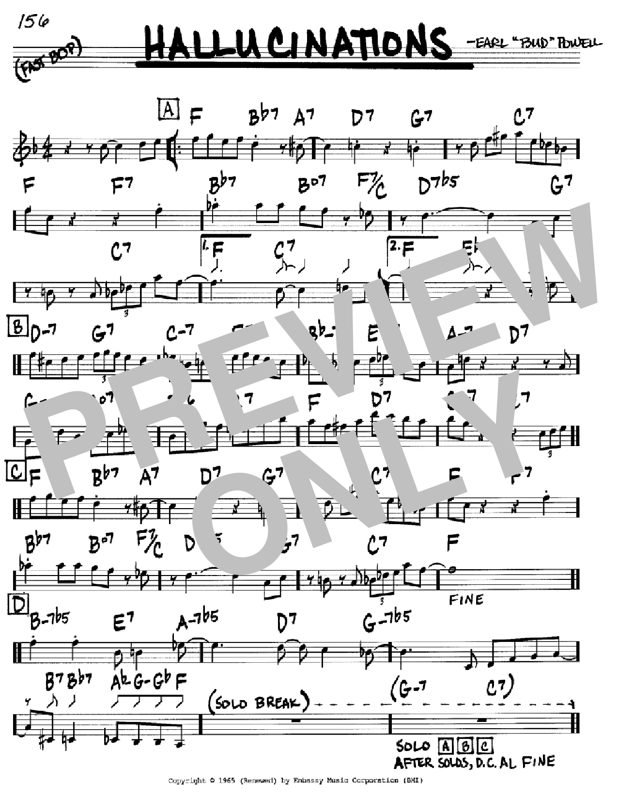 Hallucinations Sheet Music