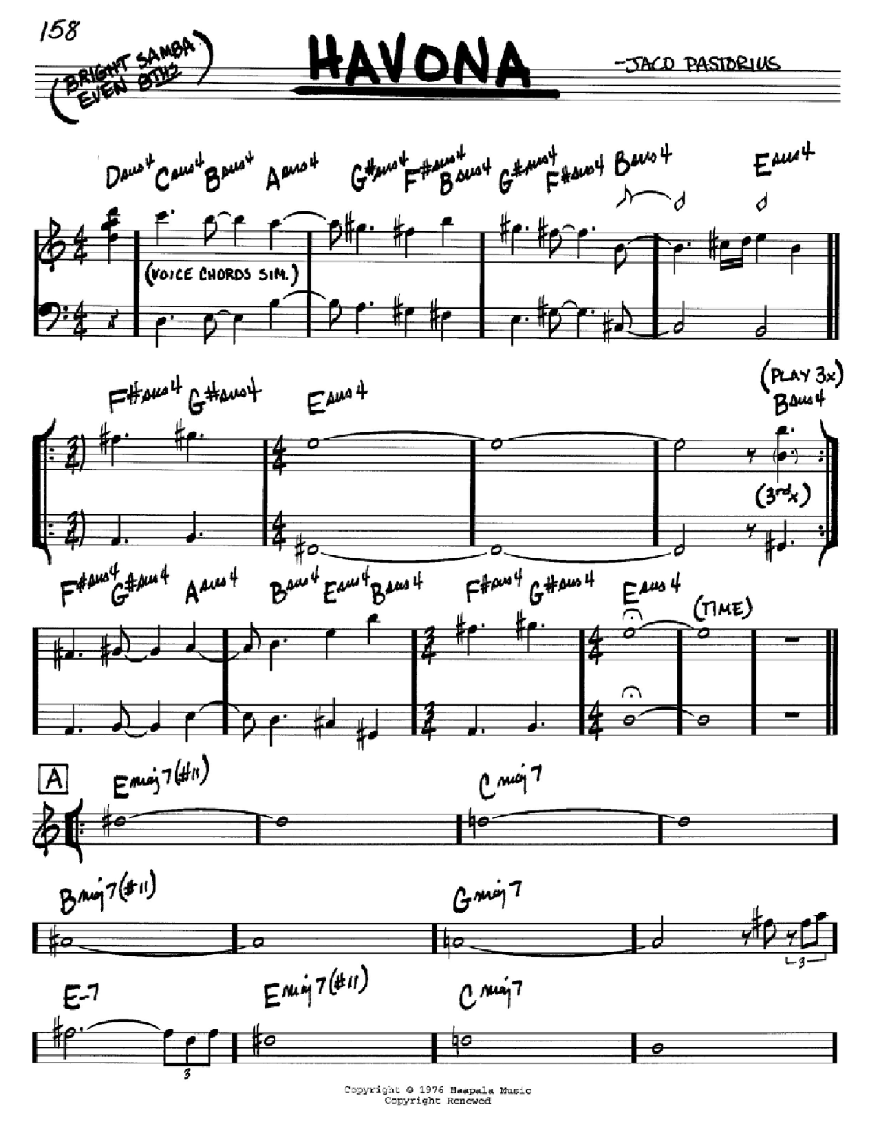 Havona sheet music by ... Mariah Carey Chords