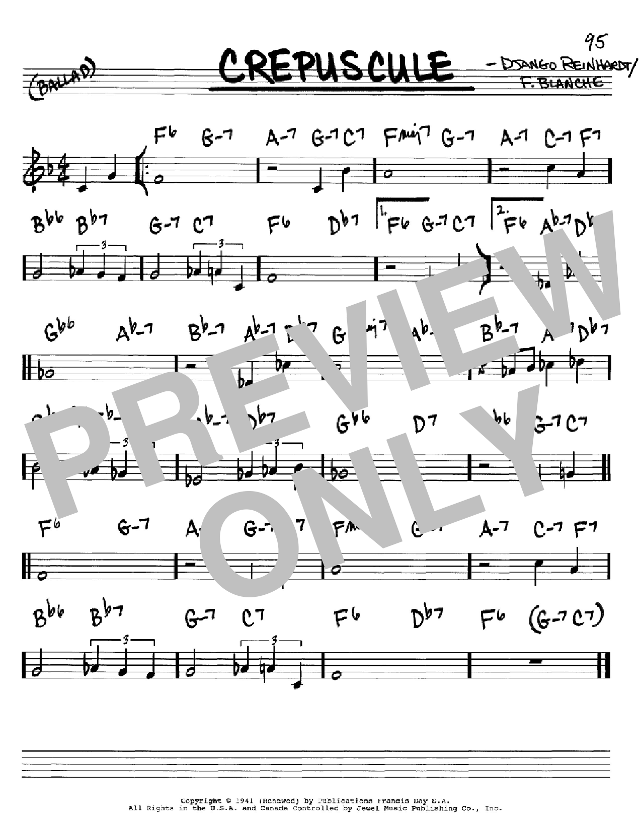 Crepuscule Sheet Music
