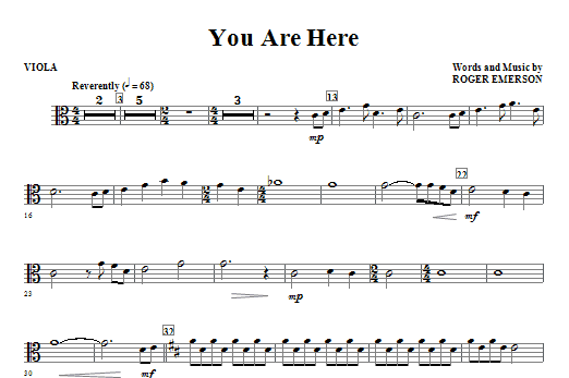 You Are Here - Viola Sheet Music