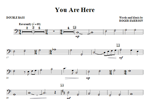 You Are Here - Double Bass Sheet Music