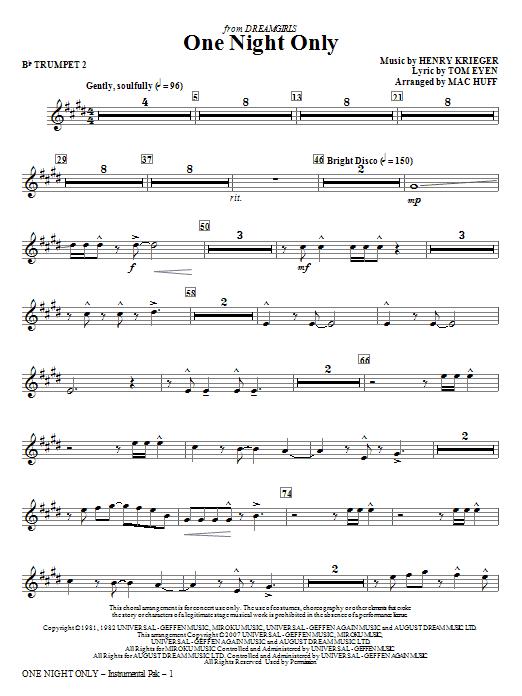 One Night Only (from Dreamgirls) - Bb Trumpet 2 (Choir Instrumental Pak)