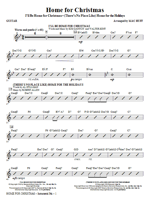 Home for Christmas (Medley) - Guitar Sheet Music