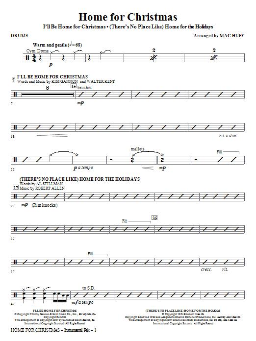 Home for Christmas (Medley) - Drums (Choir Instrumental Pak)