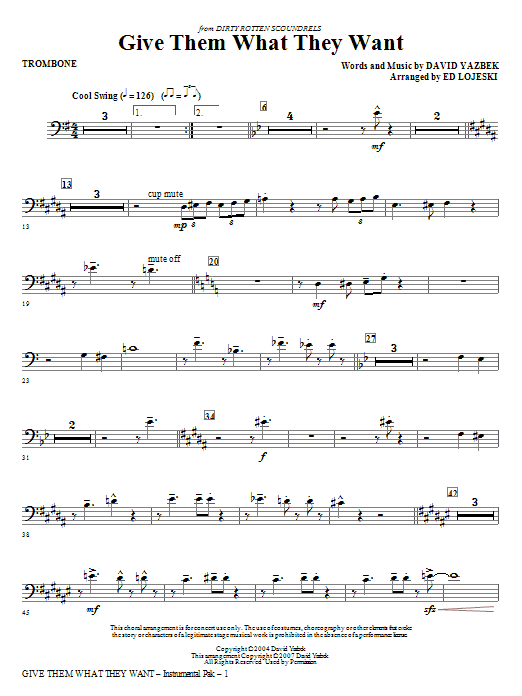 Give Them What They Want - Trombone Sheet Music