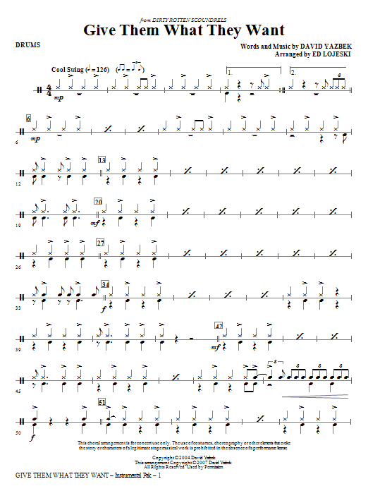Give Them What They Want - Drums Sheet Music
