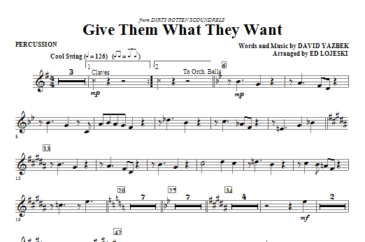 Give Them What They Want - Percussion Sheet Music