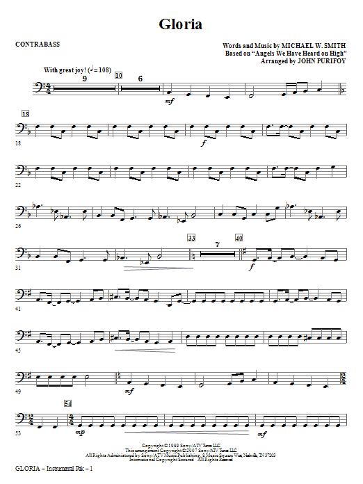 Gloria - Contrabass Sheet Music
