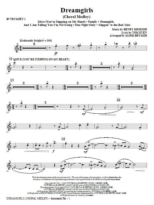 Dreamgirls (Choral Medley) - Bb Trumpet 2 Sheet Music