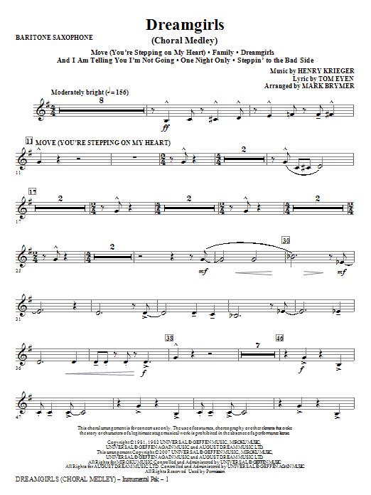 Dreamgirls (Choral Medley) - Baritone Saxophone Sheet Music