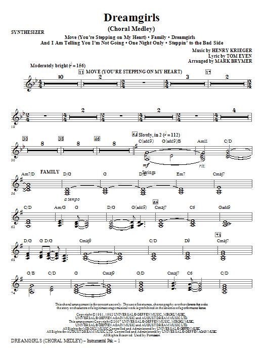 Dreamgirls (Choral Medley) - Synthesizer (Choir Instrumental Pak)