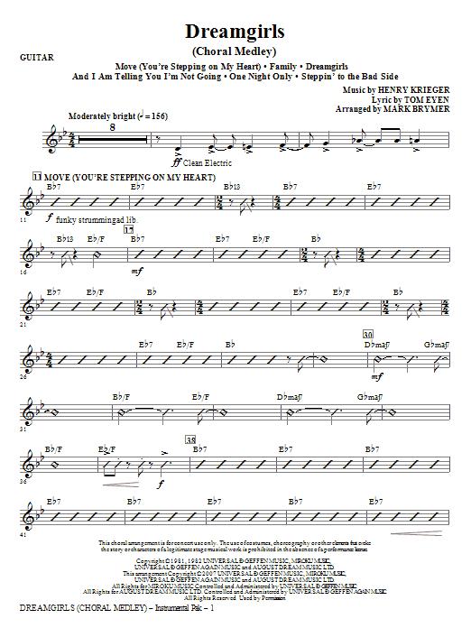 Dreamgirls (Choral Medley) - Guitar (Choir Instrumental Pak)